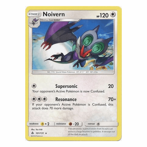Noivern 101/131 Rare - Pokemon Sun & Moon Forbidden Light Card