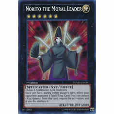 Norito the Moral Leader NUMH-EN039 - YuGiOh Number Hunters Secret Rare