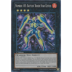 Number 105: Battlin' Boxer Star Cestus LTGY-EN051 - Super Rare