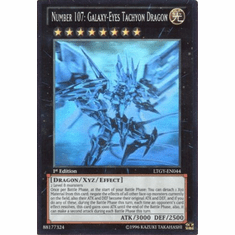 Number 107: Galaxy-ENo Tachyon Dragon LTGY-EN044 - Ghost Rare
