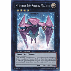 Number 16: Shock Master CT09-EN014 - YuGiOh Super Rare Promo Card