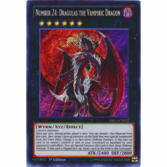 Number 24: Dragulas the Vampiric Dragon DRL3-EN022 Secret Rare - YuGiOh Dragons of Legend Unleashed Card