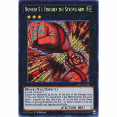 Number 51: Finisher the Strong Arm DRL3-EN024 Secret Rare - YuGiOh Dragons of Legend Unleashed Card