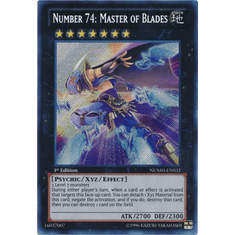 Number 74: Master of Blades NUMH-EN032 - Number Hunters Secret Rare Card