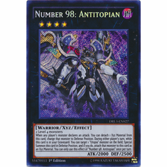 Number 98: Antitopian DRL3-EN027 Secret Rare - YuGiOh Dragons of Legend Unleashed Card