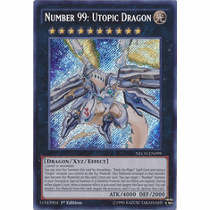 Number 99: Utopic Dragon NECH-EN099 - Secret Rare The New Challengers Card