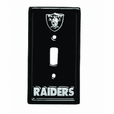 OAKLAND RAIDERS LIGHT SWITCH COVER PLATE