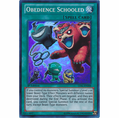 Obedience Schooled LVAL-EN088 - YuGiOh Legacy Of The Valiant Super Rare