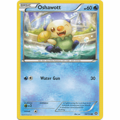 Oshawott 30/114 Common - Pokemon XY Steam Siege Card