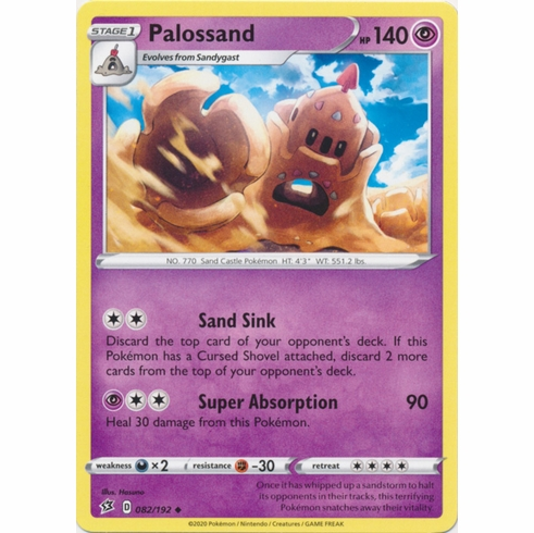 Palossand - 082/192 Pokemon » SWSH Rebel Clash Uncommon