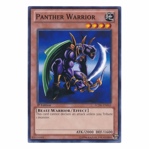 Panther Warrior LCJW-EN043 - YuGiOh Joey's World Common Card