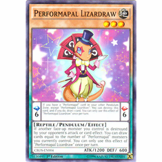 Performapal Lizardraw CROS-EN004 Common - YuGiOh Crossed Souls Card