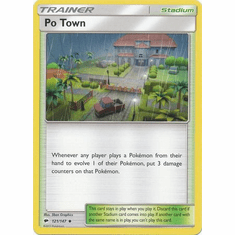 Po Town 121/147 Uncommon - Pokemon Sun & Moon Burning Shadows Card