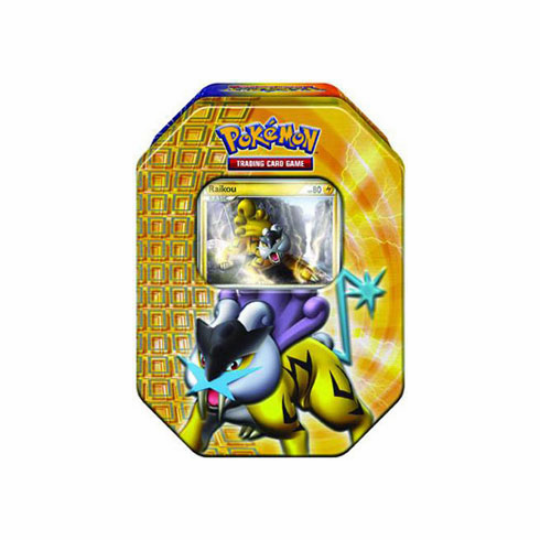 Pokemon 2010 Trading Card Game Raikou Holiday Tin