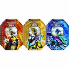Pokemon 2010 Trading Card Game SET of 3 Holiday Tins