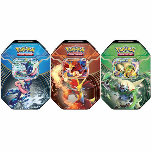 Pokemon 2014 Kalos Power Tin Set (3 Kalos Tins)