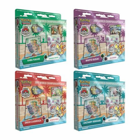 Pokemon 2017 World Championship Set of 4 Decks