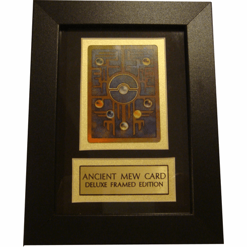 Pokemon Ancient Mew (Back Of Card) Deluxe Framed Plaque