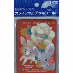 Pokemon Black & White Minccino Card Sleeves 32ct - Japanese