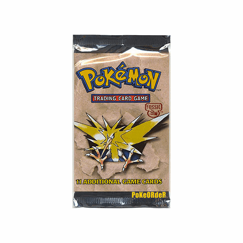 Pokemon Cards Fossil Booster Pack