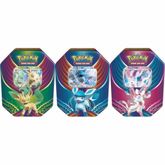 Pokemon Evolution Celebration Sylveon-GX, Leafeon-GX, Glaceon-GX Set of 3 Collector Tin Sets