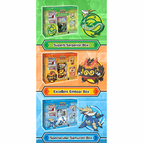 Pokemon Evolution Starter Box Set (Set Of 3 Starter Boxes)