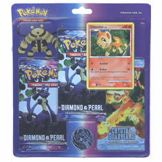 Pokemon EX Chimchar Promo Card with 3 Packs