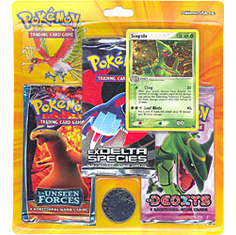 Pokemon EX Sceptile Promo Card with 3 Packs
