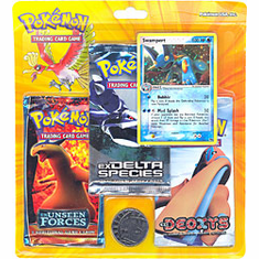 Pokemon EX Swampert Promo Card with 3 Packs