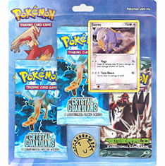 Pokemon EX Tauros Holofoil Promo Card with 3 Packs