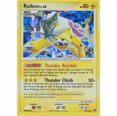 Pokemon Holo Rare Reprint Promo Card - Raikou 16/132