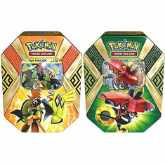 Pokemon Island Guardians Tapu Bulu-GX & Tapu Koko-GX Set of Both Collector Tin