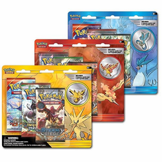 Pokemon Legendary Birds 3 Pack Blister Pin Pack