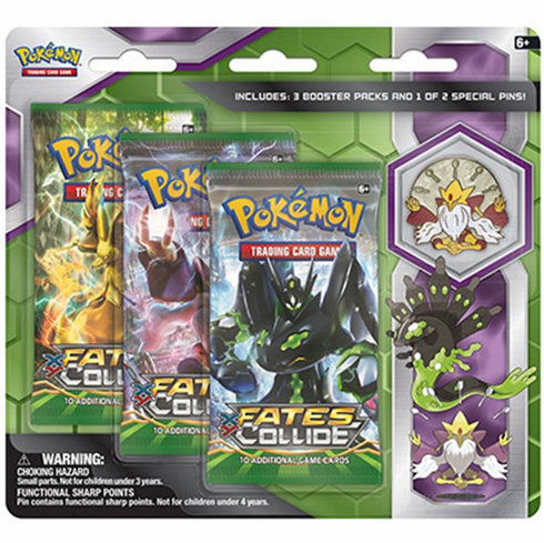 Pokemon Mega Alakazam Or Zygarde 3-Pack Pin Blister Pack