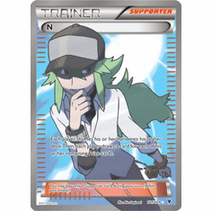Pokemon Noble Victories Ultra Rare Trainer Card - N 101/101