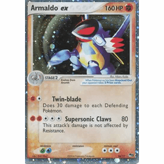 Pokemon POP 1 Ultra Rare Holofoil Promo Card - Armaldo EX 16/17