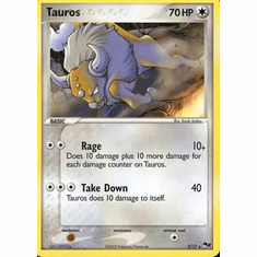 Pokemon POP Series 2 Promo Card Tauros 5/17 Rare