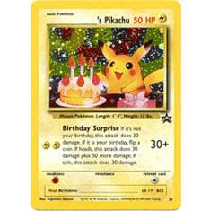 Pokemon Promo Card - Birthday Pikachu