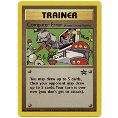 Pokemon Promo Card - Computer Error (Rocket's Secret Machine)