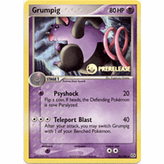 Pokemon Promo Card - Grumpig (Prerelease)