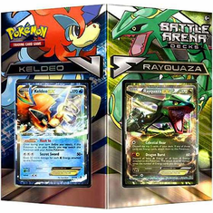 Pokemon Rayquaza vs Keldeo 2-Player Battle Arena Decks