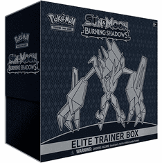 Pokemon Sun & Moon Burning Shadows Necrozma Elite Trainer Box