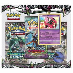 Pokemon Sun & Moon Celestial Storm 3-Pack Blister