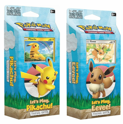 Pokemon Sun & Moon Let's Play Set of Both Theme Decks [Eevee & Pikachu] (Pre-Order ships February)