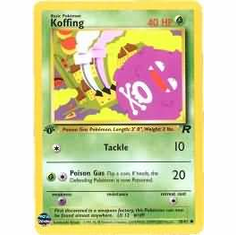 Pokemon Team Rocket Common Card - Koffing 58/82