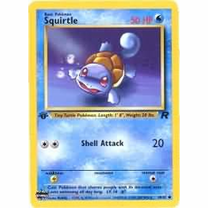 Pokemon Team Rocket Common Card - Squirtle 68/82