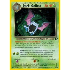 Pokemon Team Rocket Holo Card - Dark Golbat 7/82