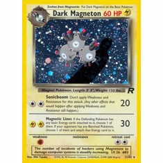 Pokemon Team Rocket Holo Card - Dark Magneton 11/82