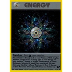 Pokemon Team Rocket Holo Card - Rainbow Energy 17/82