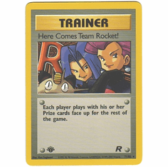 Pokemon Team Rocket Rare Card - Here Comes Team Rocket! 71/82